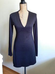 Aritzia Wilfred Free Black Long Sleeve Mini Dress